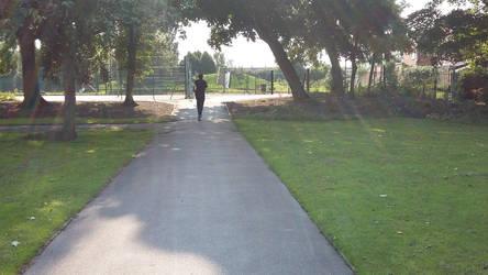 Jogger in park by BonnieBannanas101