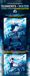 Elements - Water Flyer / Photomanipulation by cooledition