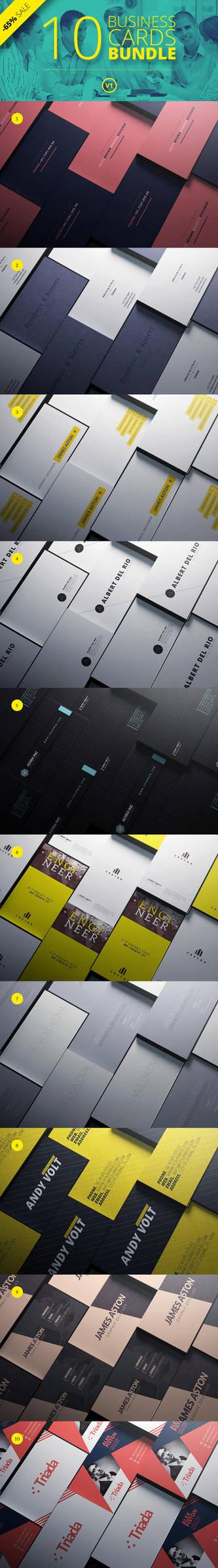 10 Business Cards Bundle V1 by cooledition