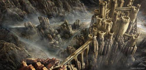 Fantasy Desert Landscape by trochatart