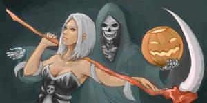 Female Necromancer by Galsein