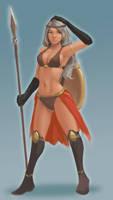 Spearwoman by Galsein