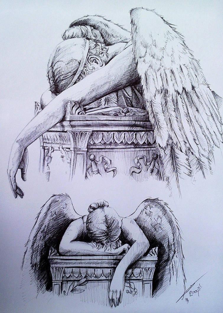Angel Of Grief. by phantomphreaq