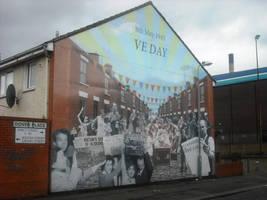 VE Day mural by Keresaspa