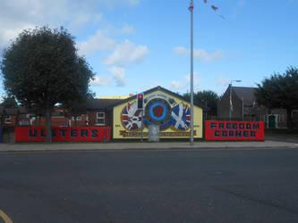 Ulster's Freedom Corner mural by Keresaspa