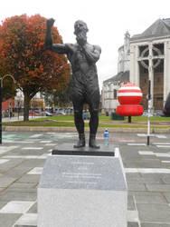 Rinty Monaghan statue by Keresaspa