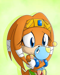 .:Tikal And A Chao:. by RubySp00n