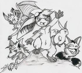 Digimon--Team Neo by Sacro-Youkai