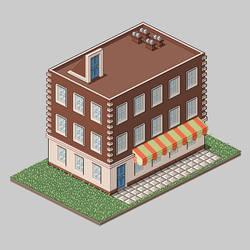 Pixel House by HarryDigitalArt