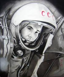 Yuri Gagarin by Juan0G