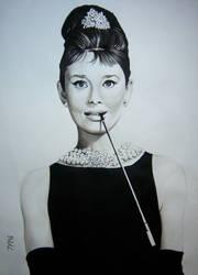 Audrey Hepburn by Juan0G