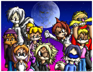 HUMANS-Sonic Crossover by Foxy-Sierra