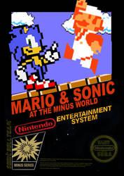 Sonic Mario Minus World NES Cover by fuzi666