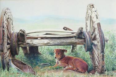 Old Wagon by MingYou-Xu