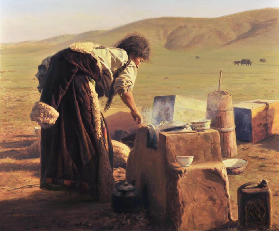 Brewing Tea by MingYou-Xu
