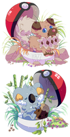 Little pokeballs by xY-a-z-z