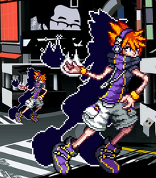 Neku TWEWY by WaterPixelArt