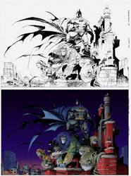Darkness-Batman Coloring by SethMeyer