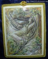 Decoupage woman's picture by lamu1976