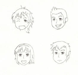 OC Headshots by Mike16r