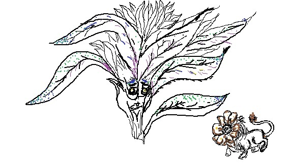 Cabbage Head and Dandelion by grandpa90063