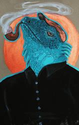 Anthropomorphism: Lizard by kiusa