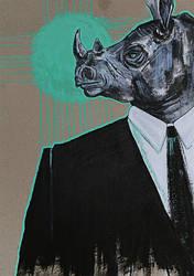 Anthropomorphism: Rhino by kiusa