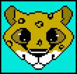 Cheetah Head by MagicRain100