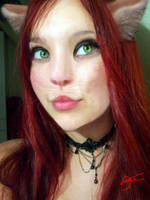 cat girl by XrosesxarexblakX