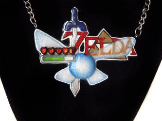 Legend Of Zelda Logo Necklace by Ideationox