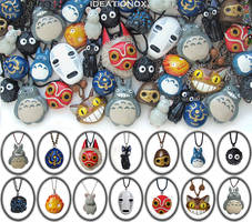 Ghibli  Necklace Collection by Ideationox