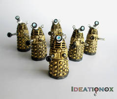 EXTERMINATE!!! Dalek Polymer Clay Charms by Ideationox