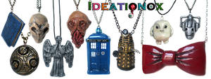 Doctor Who inspired clay necklace collection! by Ideationox