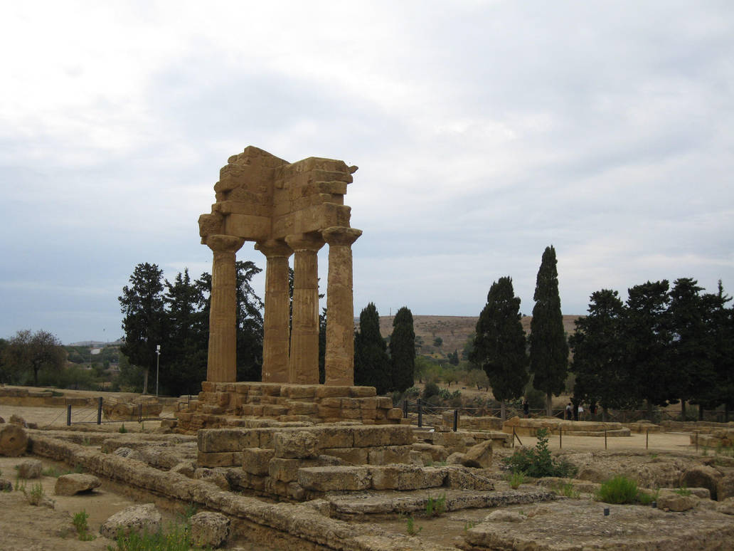 Greek Temple 01 by Olgola