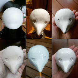 Plague doctor munny - making the head by Eldritch-Error