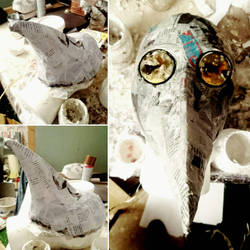 Plague doctor mask 2 - WIP by Eldritch-Error