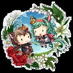 Tiny Aya + Chiharu by kvcl