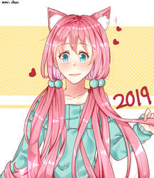 HAPPY NEW YEAR 2019 by ami-shun