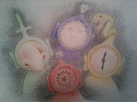 Twisted Teletubbies by theGingerLily