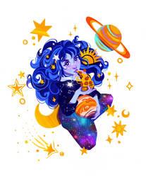 Galaxy Girl by LadyChamomile