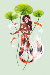 Mermay 5: Koi (vitiligo) by LadyChamomile