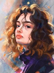 Texture Study Portrait by LadyChamomile