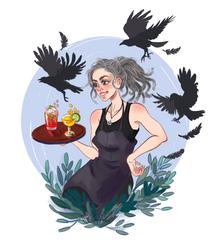 Sketching People IRL: Portland Waitress by LadyChamomile