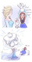 Snowman Fight by kiiro789
