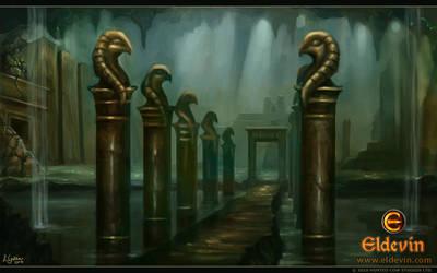Eldevin - Lost City of Garai Entrance by LouisaGallie