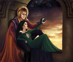Sarah and Jareth by LouisaGallie