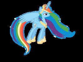 Princess Rainbow Dash by Nianara