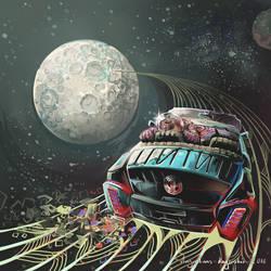 Moon Car by AugustinasRaginskis