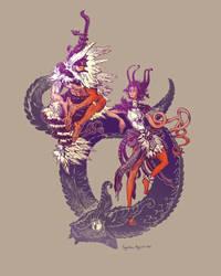 Sky Serpents by AugustinasRaginskis