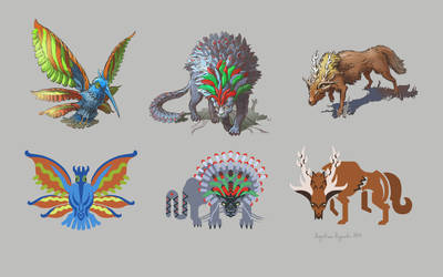Funky Jungle Animals by AugustinasRaginskis